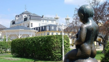Františkovy Lázně socha Františka